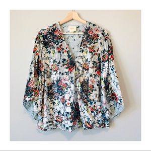 NWOT | Anthropologie Silk Blend Umi Wrap Blouse